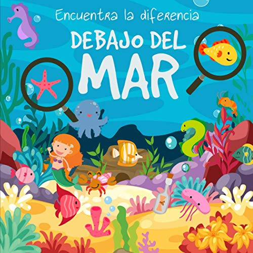 Encuentra la diferencia - Debajo Del Mar!: Divertido libro de rompecabezas para niños de 3 a 6 años ⭐