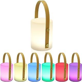 Lampe de Table Extérieure Gradable RGB Lampe de Table Sans Fil 8 couleurs Portable Lampe de Table pour Exterieure Jardin s...