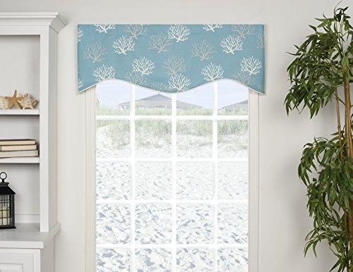 "VICTOR MILL, INC Captiva Shaped 50"" Curtain Valance"