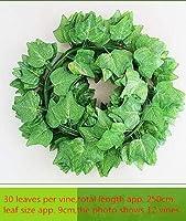 人工植物 人工グリーンベゴニアレッドメープルリーフヴァインシミュレーションアイビーラタン壁の花リーフヴァイン緑色植物杖 LWSJP (Color : 2, Size : One Size)