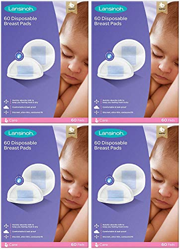 Lansinoh, Disposable Nursing Breast Pads with BlueLock core pack of x 60 pads 265, purple, Count