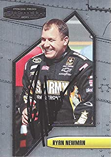 AUTOGRAPHED Ryan Newman 2011 Press Pass Stealth Racing (#39 U.S. ARMY Team) Stewart-Haas Chevrolet Chrome Signed NASCAR Collectible Trading Card with COA