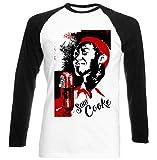 Photo de teesquare1st Men's Sam Cooke Jazz Black Long Sleeved T-Shirt Size XXLarge