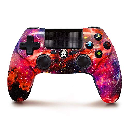 Wireless Controller für PS4, Roter Universum Serie Doppelt Shock Bluetooth Gaming Controller Für Playstation 4/Pro/Slim/PC