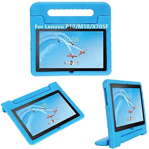 Lenovo M10 (TB-X605F TB-X505F) 10.1 Zoll Tablet hülle, KAVON Lenovo P10 (TB-X705F) Stoßfest Eva Abnehmbarer Handgriff Schutzhülle für Schale Hüllen (Blau)
