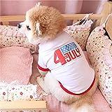 MDKAZ Camiseta Suave para Perros Ropa de Manga Corta Trajes para Cachorros Suministros para Mascotas Camiseta de Verano para Perros Chaleco Bonito para Cachorros Camiseta para Perros-XXL