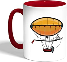 Printed Coffee Mug, Red Color, Airship (Ceramic)