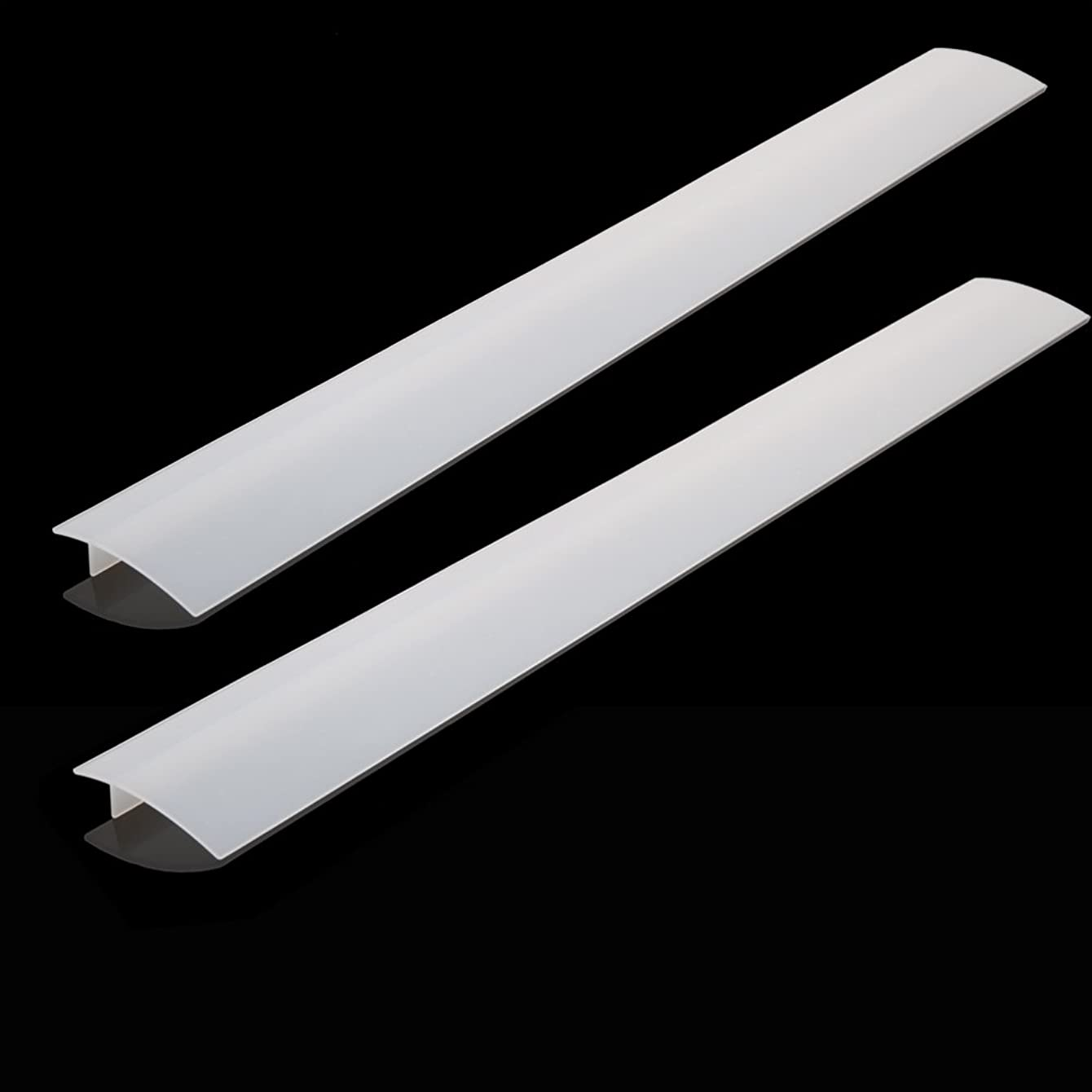 BONTEK 2-Pack Clear Stove Counter Gap Cover Food Grade Silicone Dish Washer Safe