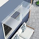 Tejadillo De Protección, Marquesina para Puertas Y Ventanas Cubierta De Patio Exterior Rain Shelter Protección UV contra La Lluvia Y La Nieve para Balcón, Patio, Puerta De Entrada MAHFEI