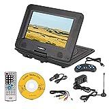 9.8 Inch Portable DVD Player Mini 3D Stereo HD DVD Player Game Playing 270 Degree Rotation(US Plug)