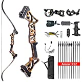 HYF Takedown Recurve Bow Package,Ready to Hunt Archery Set for Adults,Bow and Arrows for Hunting...