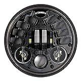 JW Speaker 0555091 Model 8690 LED High and Low Beam Adaptive Headlight with Black Inner Bezel, 1 Pack