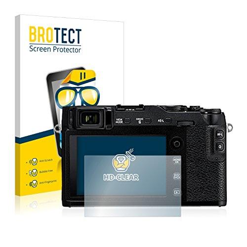BROTECT Schutzfolie kompatibel mit Fujifilm X-E3 (2 Stück) klare Bildschirmschutz-Folie