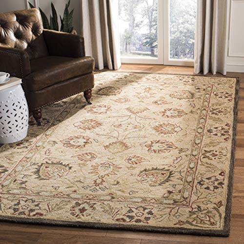 Safavieh Anatolia Collection AN512A Handmade Traditional Oriental Beige Premium Wool Area Rug (8' x 10')