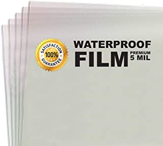 100 Sheets - 5 MIL Thick - Waterproof Screen Printing Inkjet Film Transparency - Cut Sheets (8.5