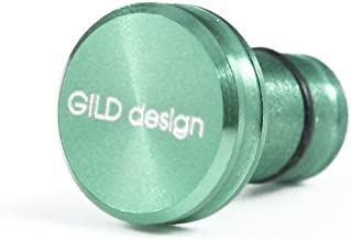 GILD design アルミ削り出し イヤホンジャックカバー ライトグリーン GA-200LG