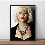 wzgsffs Christina Aguilera Poster Musik Sängerin Wandkunst