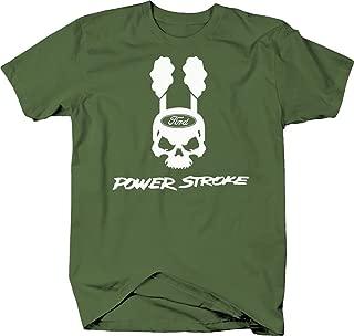 Powerstroke Skull Smokestacks Black Deisel Tee Tshirt