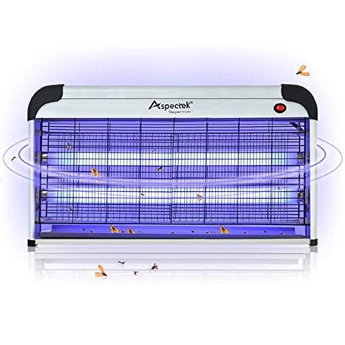 (UK Plug) Aspectek Lampe tue insectes électrique, 30 W, ampoule UV pour un usage domestique et commercial, Attention prise électrique anglaise