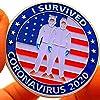 YOISMO 「I Survived 2020」 エンジェルパトロンセントコイン記念コインエンボス職人技塗装シルバーメッキメダル 記念コイン 2020年 記念硬貨 両面コイン ラッキーコイン 金貨 金属製 おしゃれ
