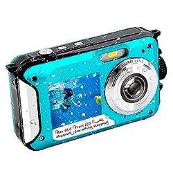 commercial Underwater camera FHD 2.7K 48MP waterproof digital selfie camera dual screen full color LCD screen… underwater disposable cameras