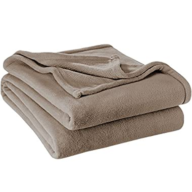 Ivy Union Ultra Soft Microplush Velvet Blanket - Luxurious Fuzzy Fleece Fur - All Season Premium Bed Blanket, Twin Extra Long (Twin XL/Twin, Taupe)