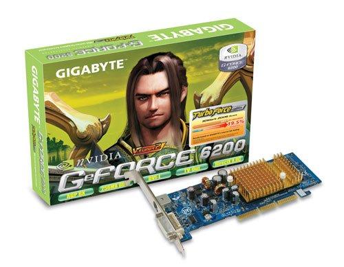 Gigabyte Grafikkarte NVidia 6200 256MB DDR2 64BIT AGP8X DVI TVO Heatsink