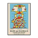 XNHXPH Paul Klee Bauhaus Berlin Museum Exposición Carteles e Impresiones Pintura Abstracta de la Lona Arte Abstracto de la Pared para la decoración del hogar Imágenes 60x90cmx1 Sin Marco