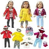 COSYOO Pantalones De Manga Larga, Mochila, Conjunto De Vestuario para Muñecas, Adorable, Adorable, Miniatura Decorativa, Simple, Realista, Surtido, Trajes De Muñecas para Muñecas