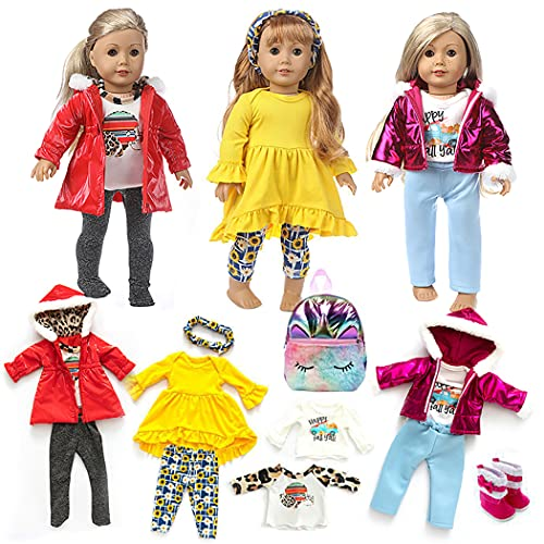COSYOO Long Sleeves Pants Backpack Doll Dressing Set Cute Adorable Decorative Miniature Simple Realistic Assorted Doll Doll Outfits