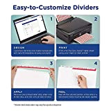 Avery 8-Tab Unpunched Binder Dividers, Easy Print & Apply Clear Label Strip, Index Maker, Pastel Tabs, 25 Sets (11999)