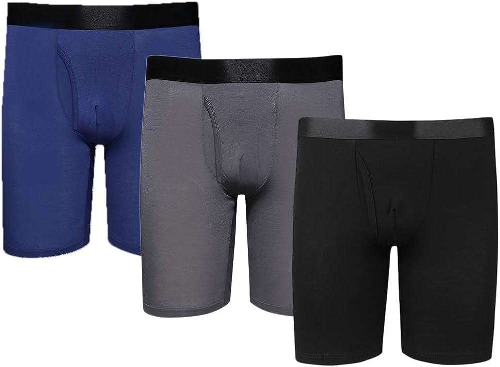 Men's Modal Underwear Long Leg Boxer Briefs