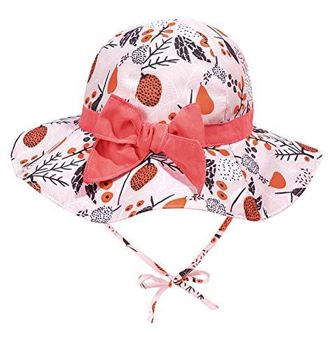 AUBIG Mädchen Sonnenhut Frühjahr Sommer Baumwolle Baby Mädchen Bowknot Sonnenhut Beach Hut Outdoor Hut 4-6 Jahre