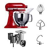 KitchenAid Artisan Küchenmaschine in rot mit Gemüseschneider
