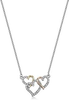 Mestige Women Glass Perpetual Love Trinity Necklace with Swarovski Crystals