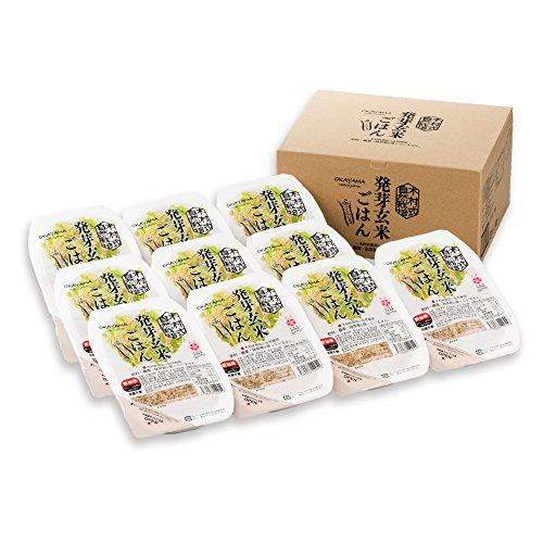 岡山県産木村式自然栽培米朝日「発芽玄米ごはん」10パック