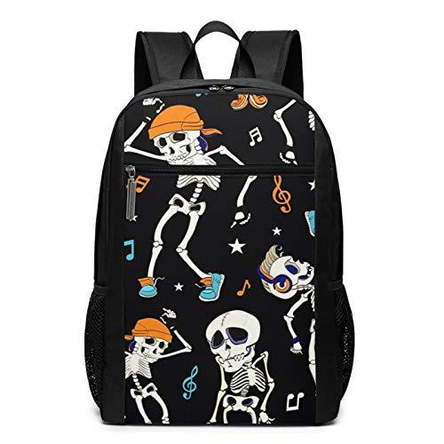 Sac à Dos Décontracté Scolaire Cartable Sacs école pour Garçons Filles Homme Femme Sac De Camping Voyage Laptop Backpack Costume Dansant Skull Party