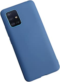 Moko Samsung Galaxy A71 Case Liquid Silicone Soft Lining Blue
