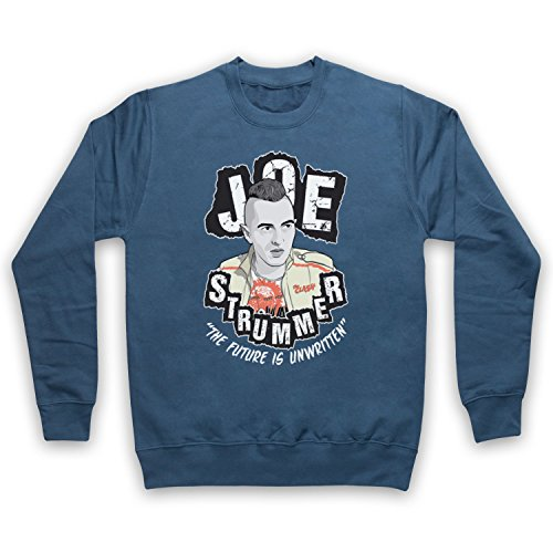 The Guns Of Brixton Joe Strummer British Punk Legend Future is Unwritten Sweat-Shirt des Adultes, Airforce Bleu, 2XL