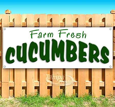 Farm Fresh Cucumber 13 oz Banner Heavy-Duty Vinyl Single-Sided with Metal Grommets
