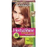 Garnier Crème colorante sans ammoniaque HerbaShine - Enrichie à l'extrait de bambou - 630 Châtain clair doré