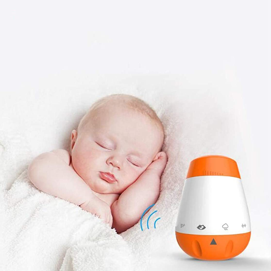 ドア丁寧モンゴメリーホワイトノイズの睡眠補助薬、USB充電オートオフタイマー付きの6つの睡眠鎮静音