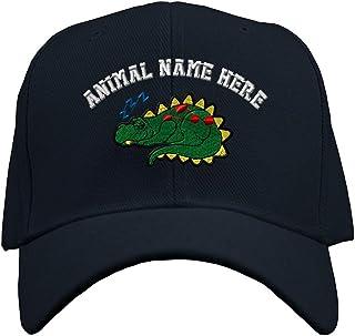 Custom Baseball Hat Snoozing Dino Embroidery Animal Name Acrylic Structured Cap