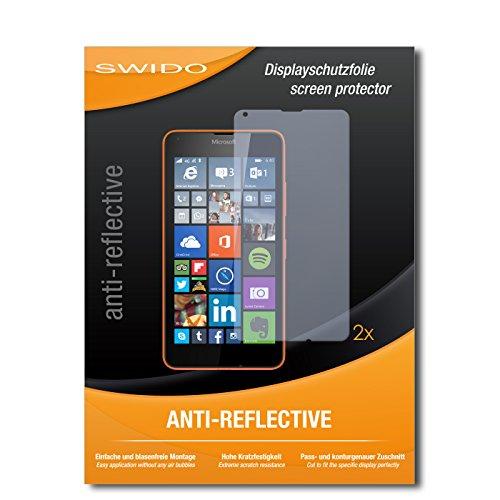 SWIDO Schutzfolie für Microsoft Lumia 640 LTE [2 Stück] Anti-Reflex MATT Entspiegelnd, Hoher Festigkeitgrad, Schutz vor Kratzer/Bildschirmschutz, Bildschirmschutzfolie, Panzerglas-Folie