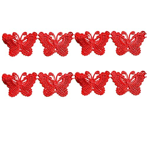YWRD Parches Ropa Termoadhesivos Infantiles Parche Ropa Infantil De Encaje Parches Traseros para Chaquetas Apliques de Flores Bordado de Encaje Red