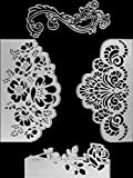 4 Pieces Rose Cutting Die Flower Shape Embossing Dies Carbon Steel Die Cutting Stencils for DIY Carding Making Scrapbooking Supplies