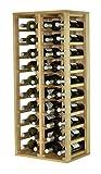 Expovinalia Botellero Especial con 4 módulos y Capacidad para 40 Unidades, Madera, Rustico, 44x32x105 cm