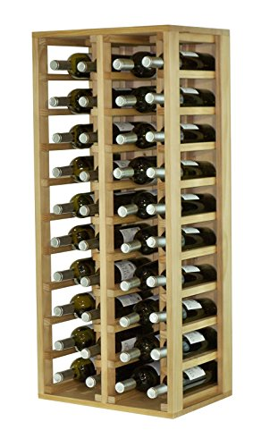 Expovinalia Special flessenrek met 4 modules en 40 stuks, hout, rustiek, 44 x 32 x 105 cm