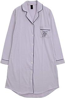 (ブルーミングフローラ)bloomingFLORA トロのびスリムに見える シャツ パジャマ ワンピース 長袖 ルームウ