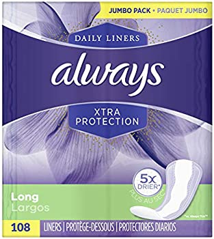 108-Count Always Xtra Protection Long Daily Liners Unscented